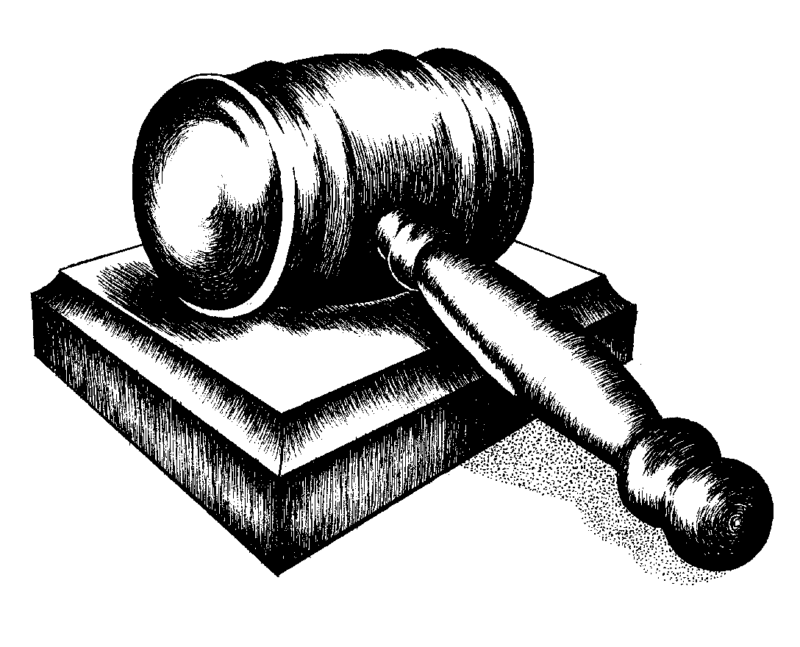 Download Gavel Clipart Black and White