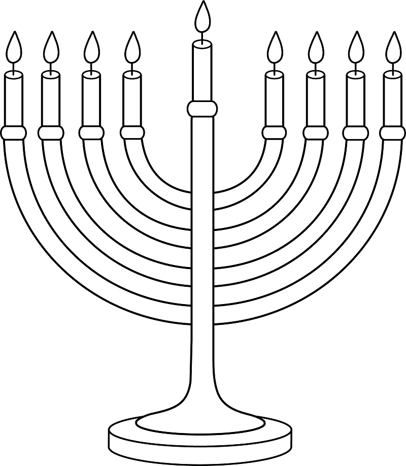 Download Menorah Clipart Black and White