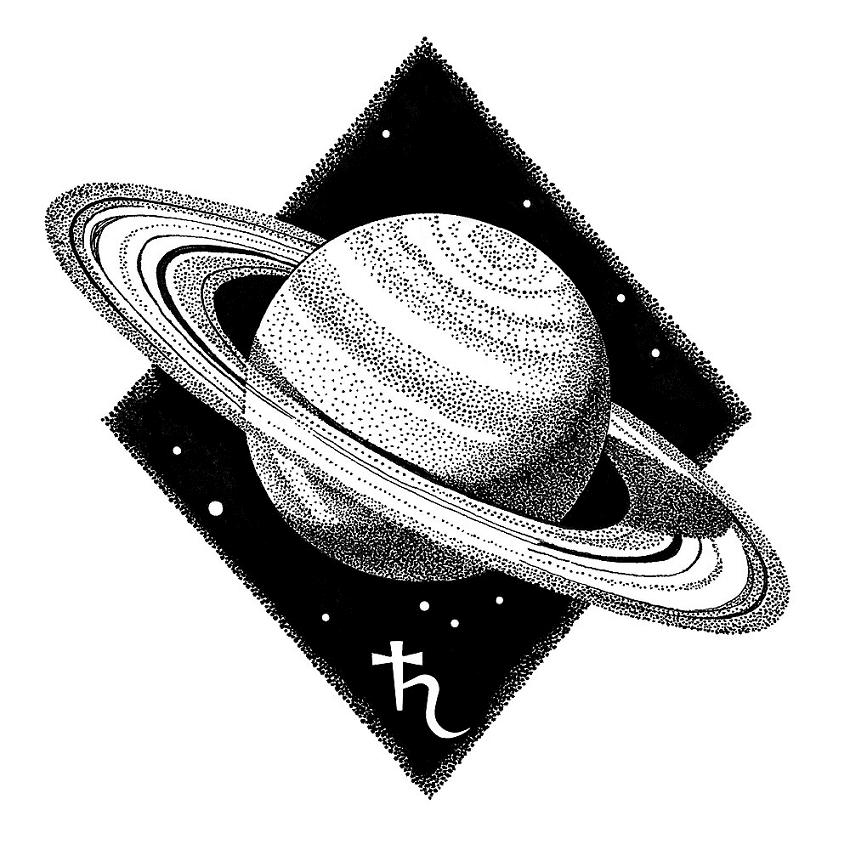 Download Saturn Clipart Black and White