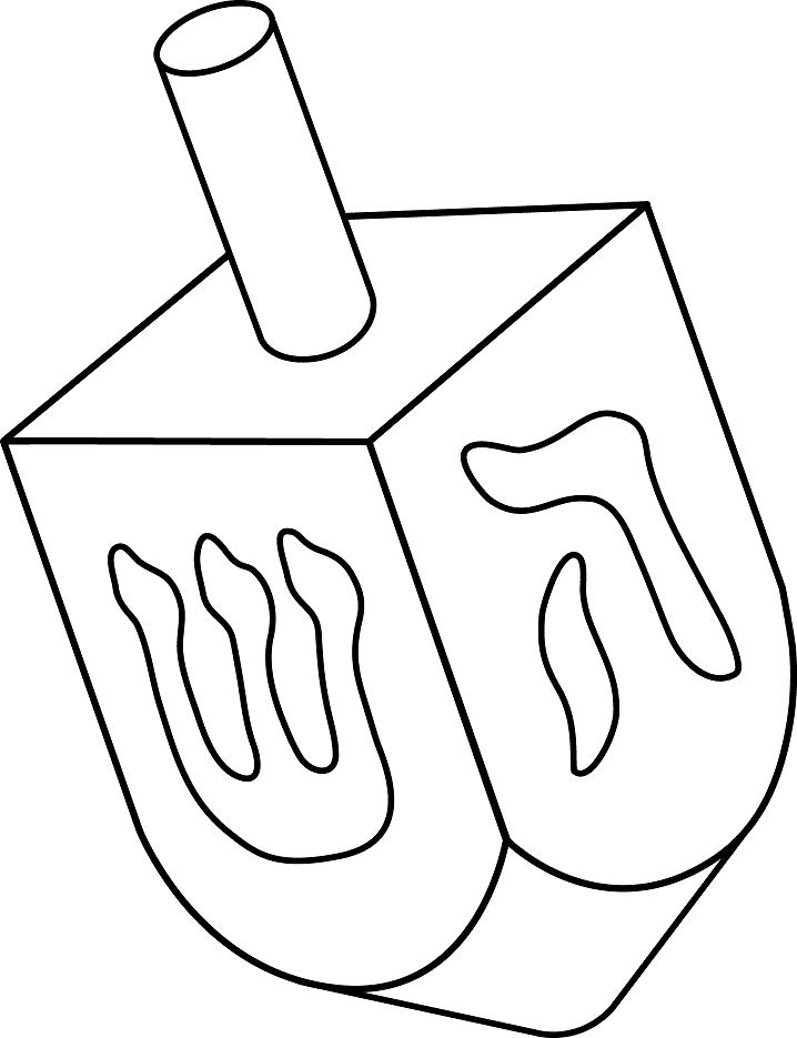 Dreidel Clipart Black and White free