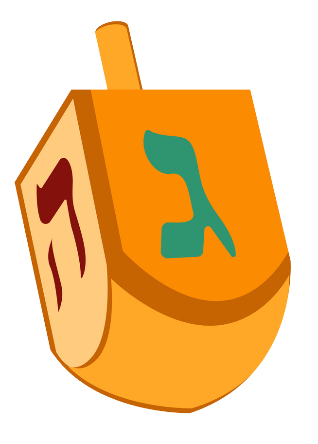 Dreidel clipart transparent 1