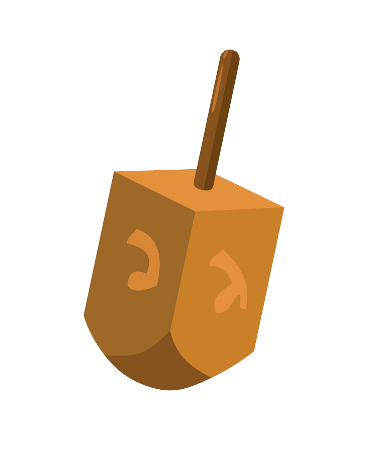 Dreidel clipart transparent 2