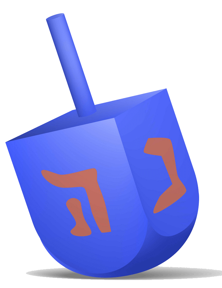 Dreidel clipart transparent 3