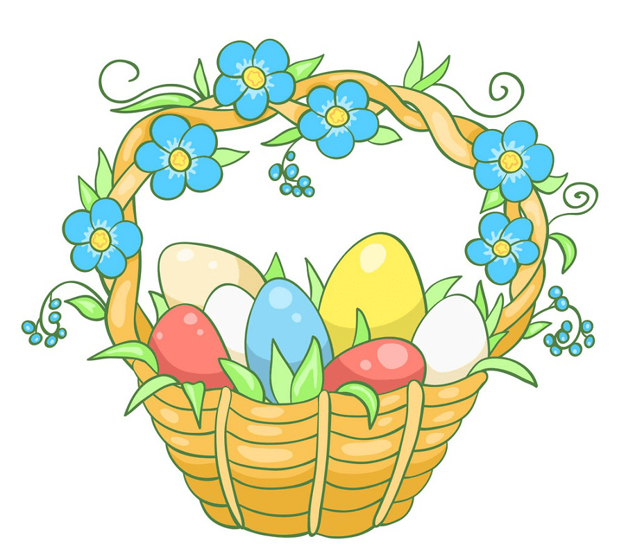 Easter Basket clipart 1