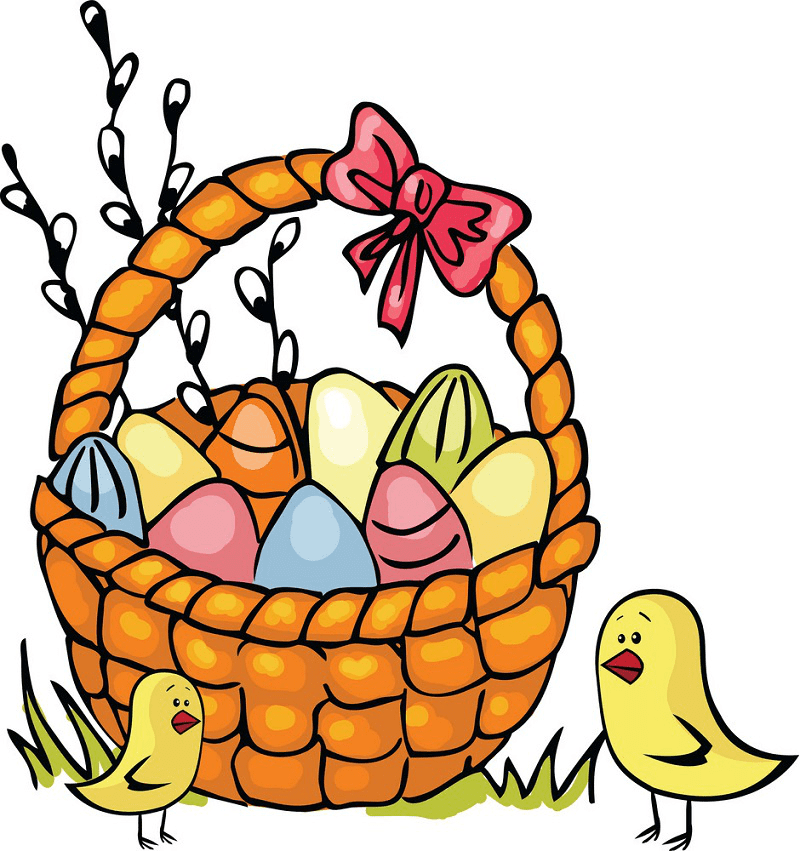 Easter Basket clipart 6