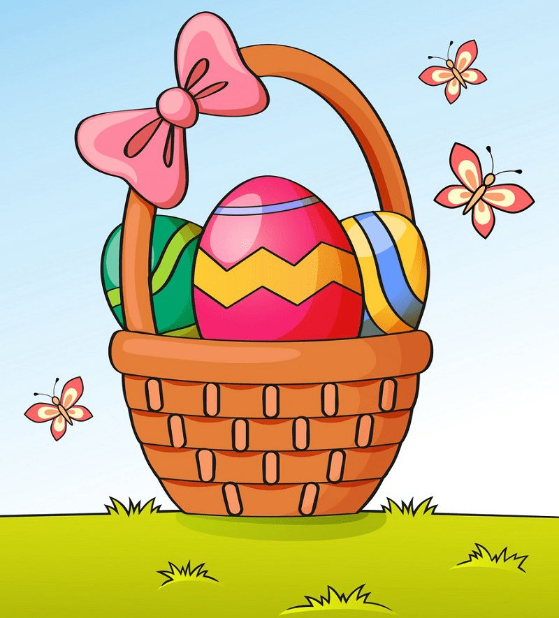 Easter Basket clipart 7
