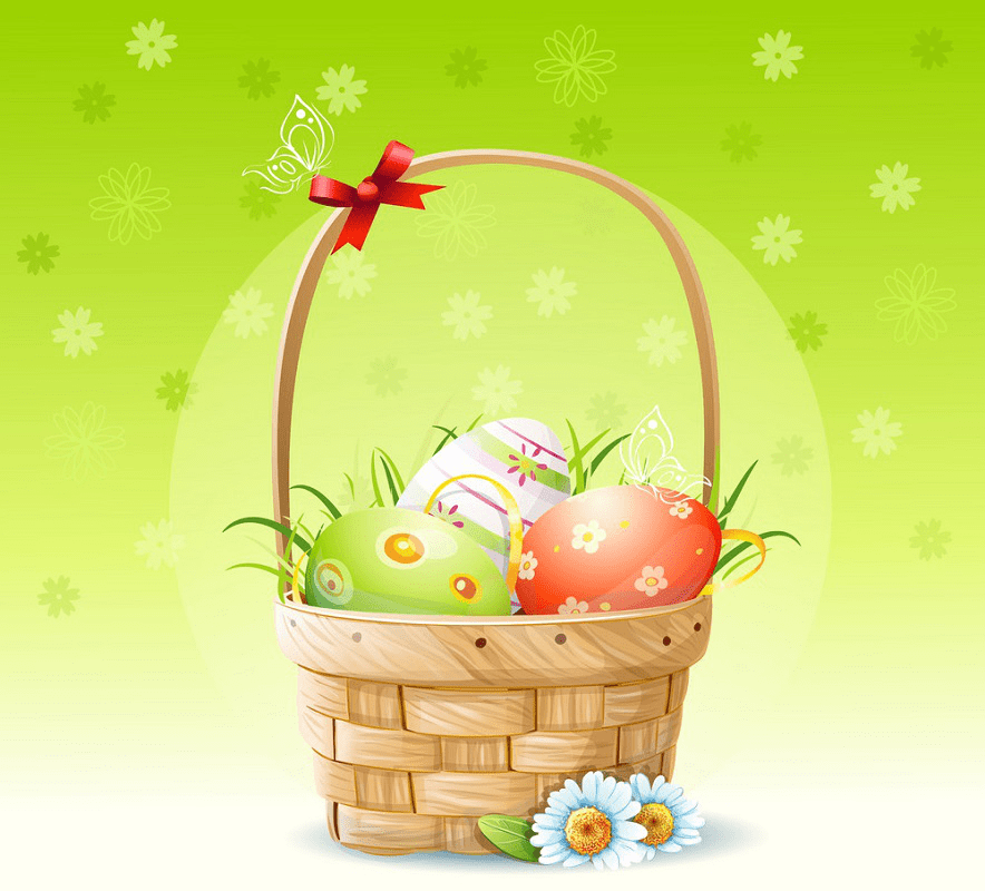 Easter Basket clipart free 2