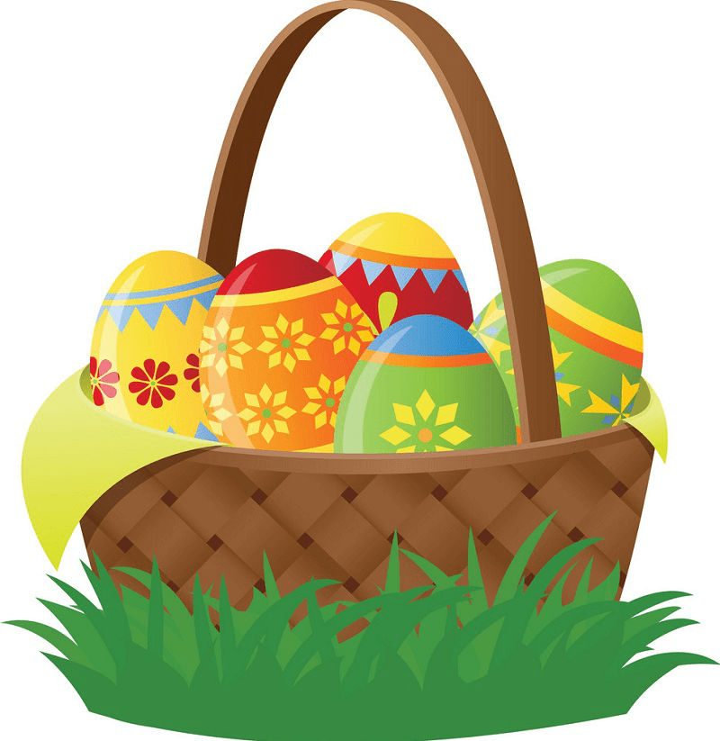 Easter Basket clipart free
