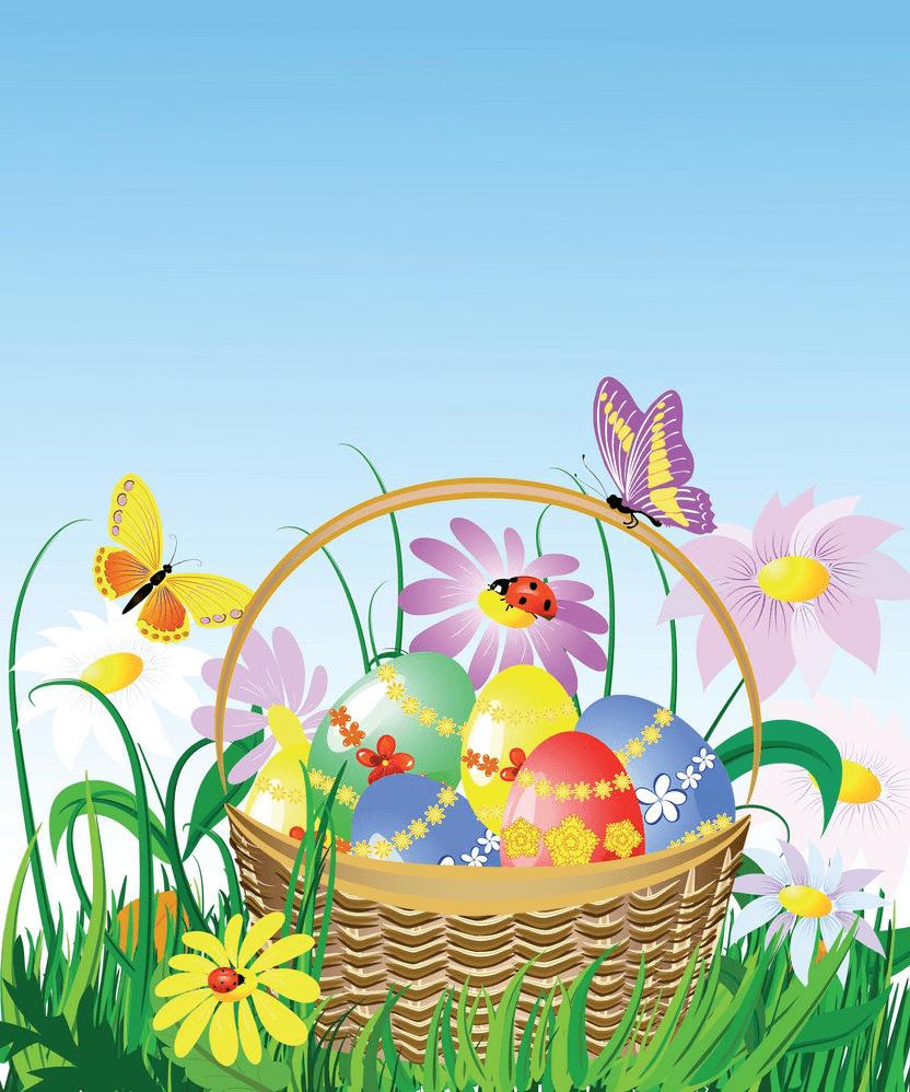 Easter Basket clipart image