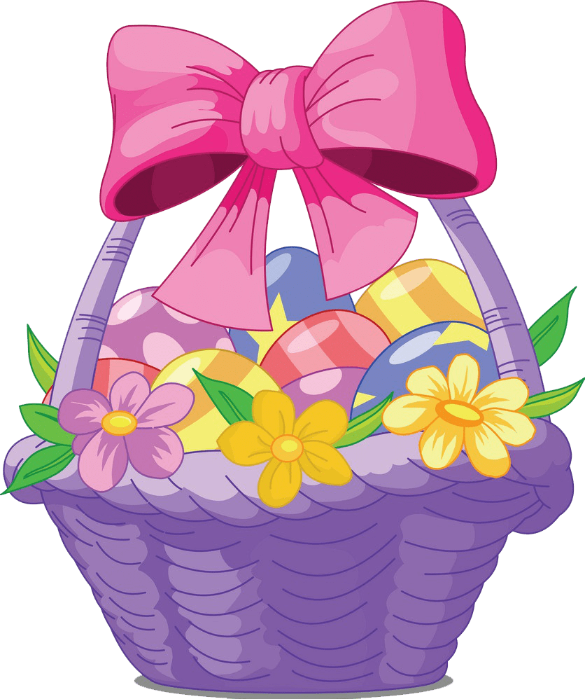 Easter Basket clipart transparent 1