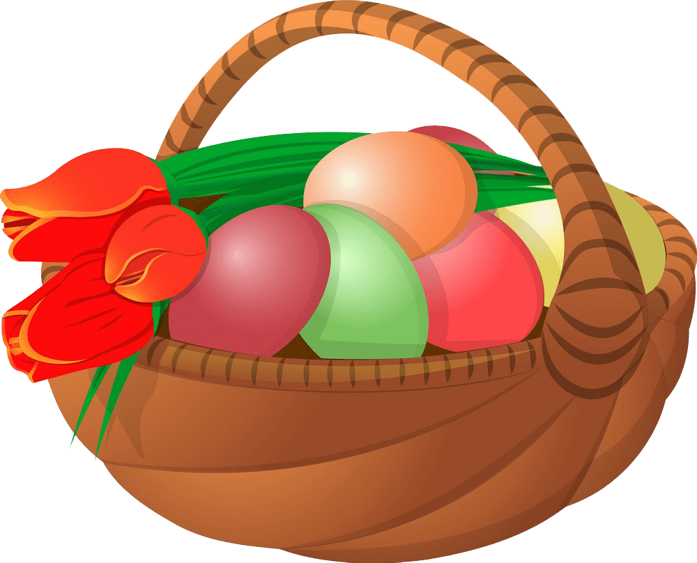 Easter Basket clipart transparent background