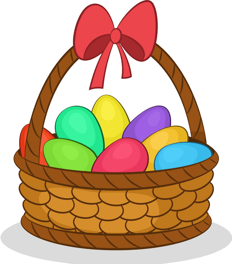 Easter Basket clipart transparent