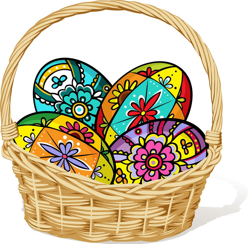 Easter Eggs Basket clipart free