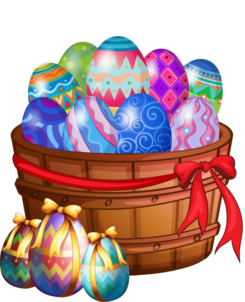 Easter Eggs Basket clipart picture