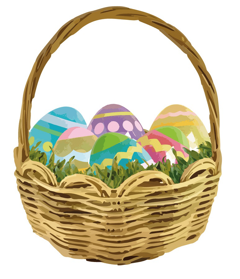 Easter Eggs Basket clipart png