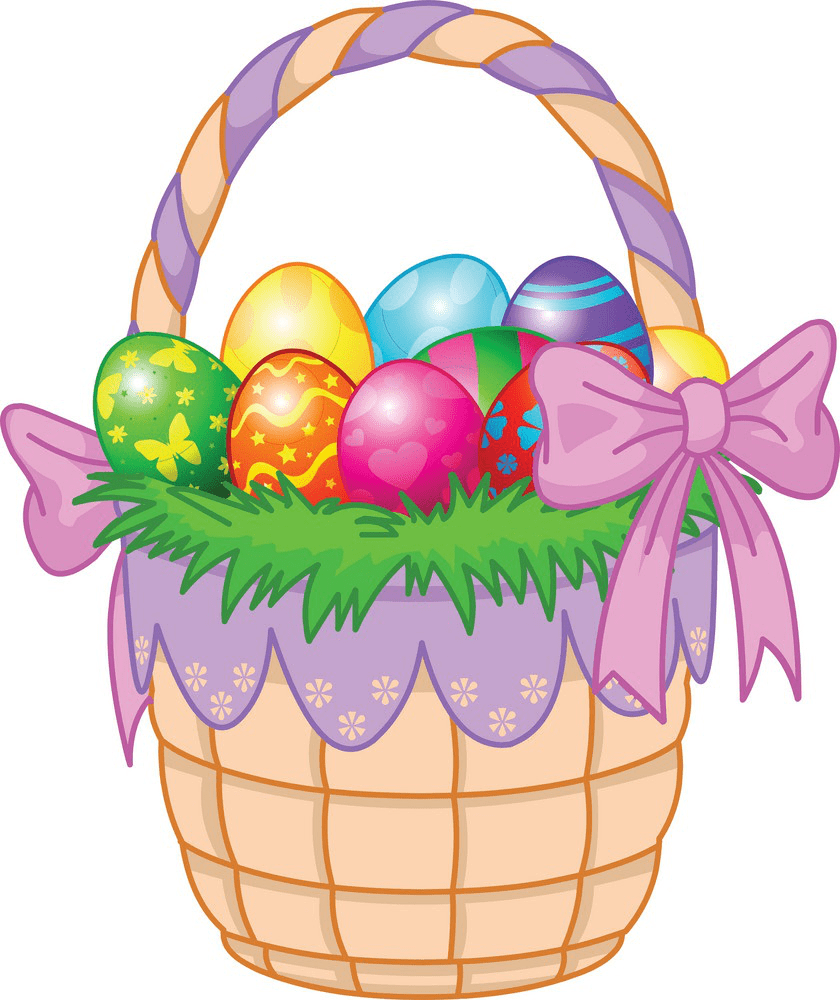 Easter Eggs Basket clipart