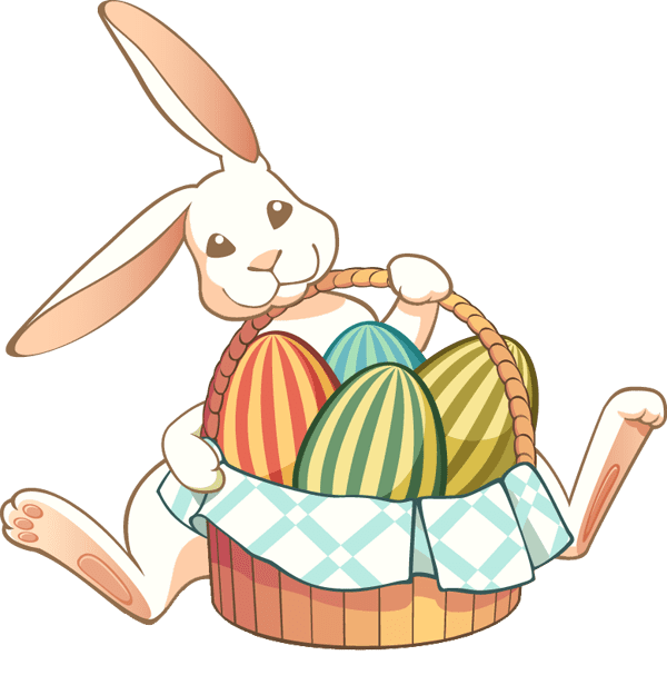 Easter Rabbit clipart transparent free