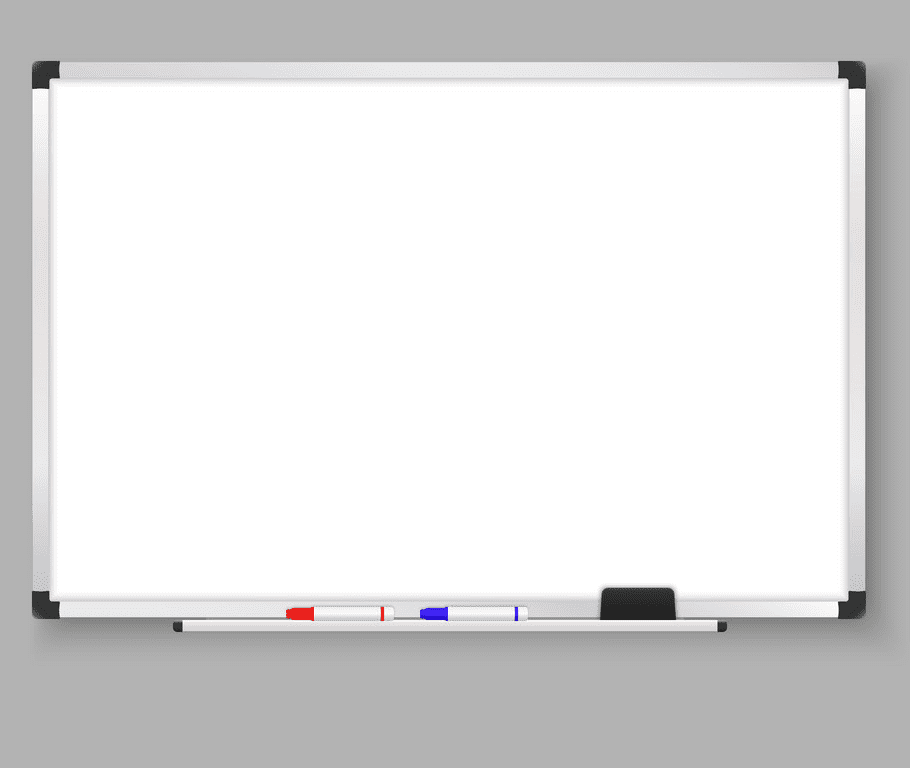Empty Whiteboard clipart free