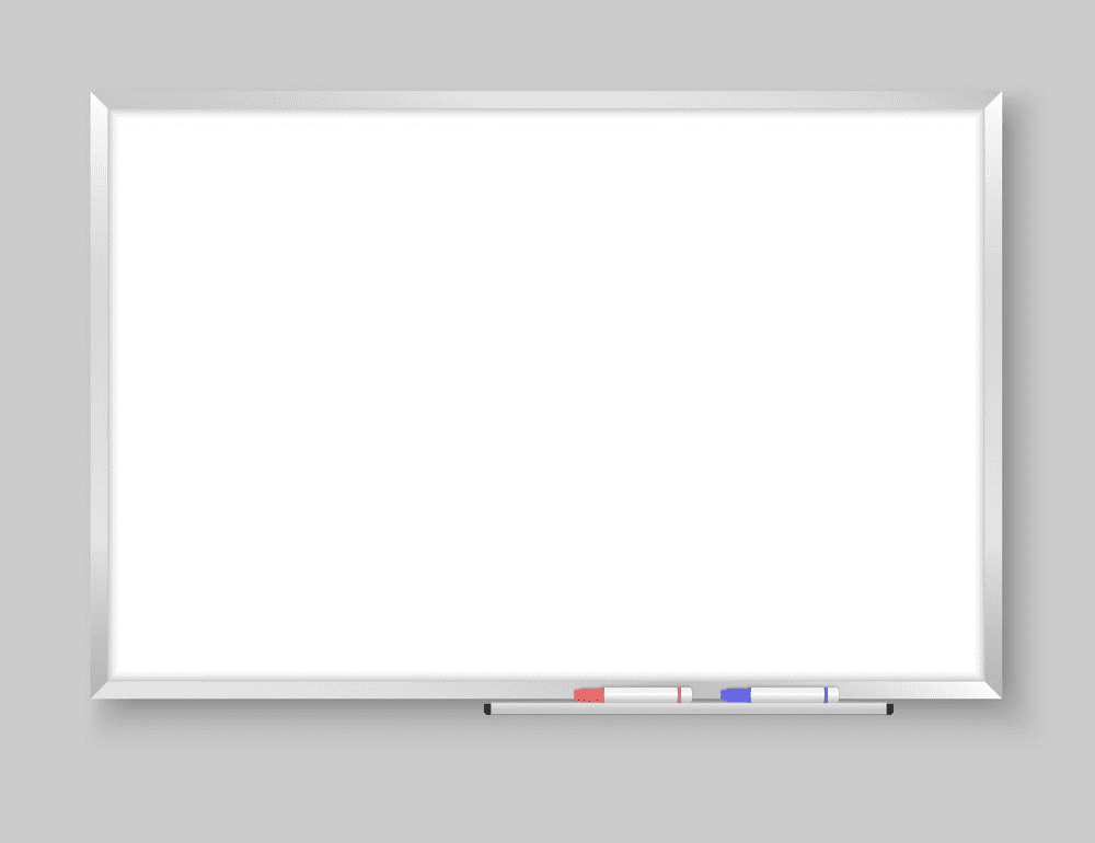 Empty Whiteboard clipart png