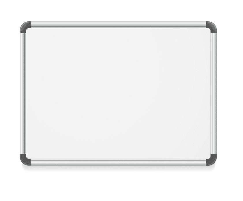 Empty Whiteboard clipart