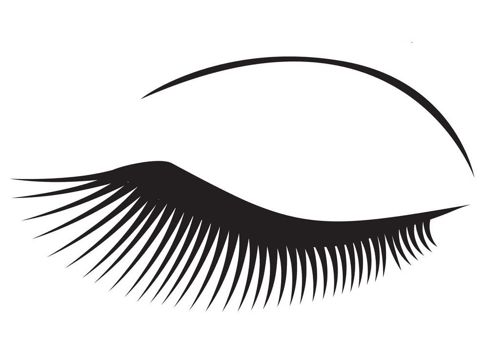 Eyelash clipart free 1