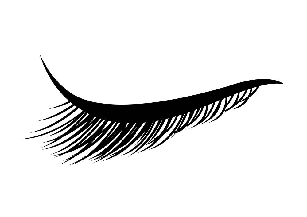 Eyelash clipart free 2