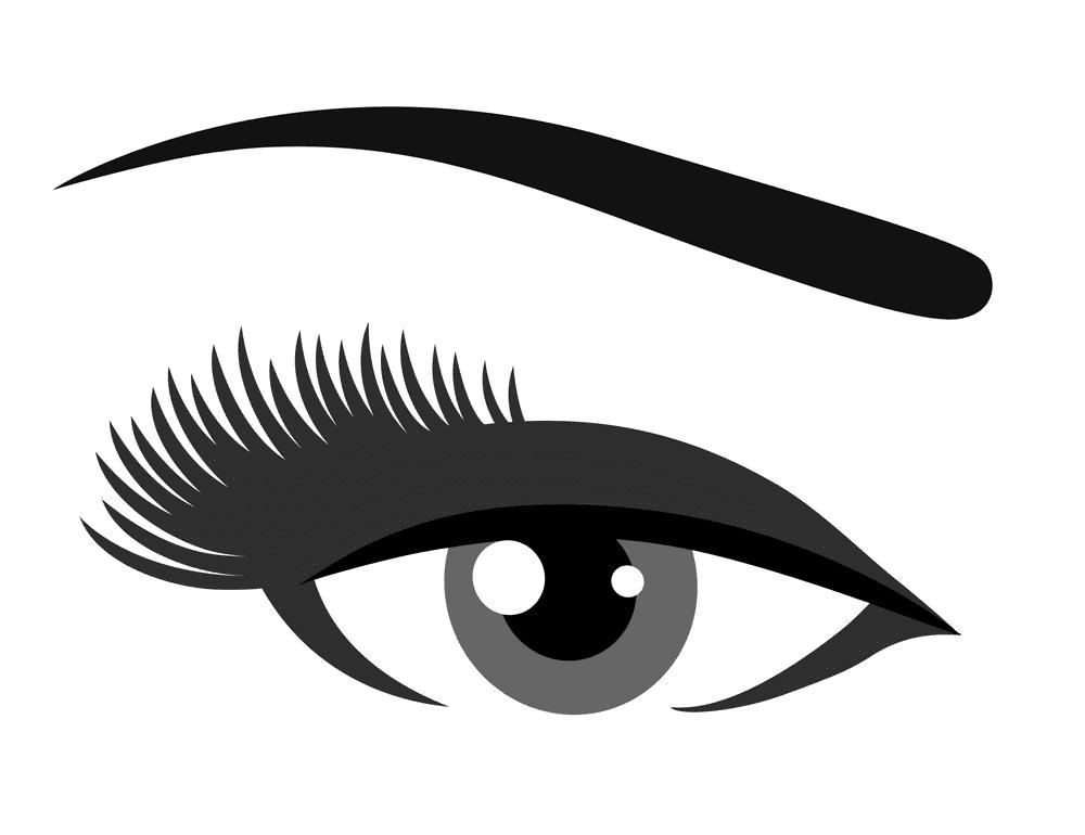 Eyelash clipart free 3