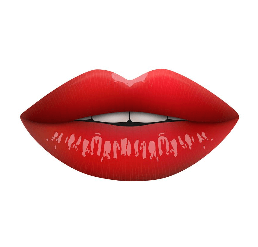 Female Red Lips clipart