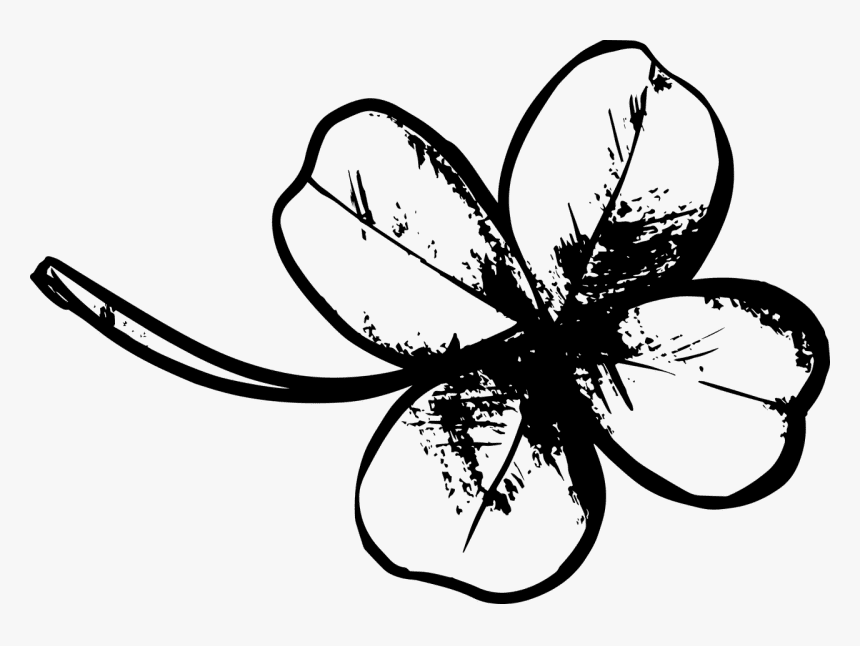 Four Leaf Clover Clipart Black and White