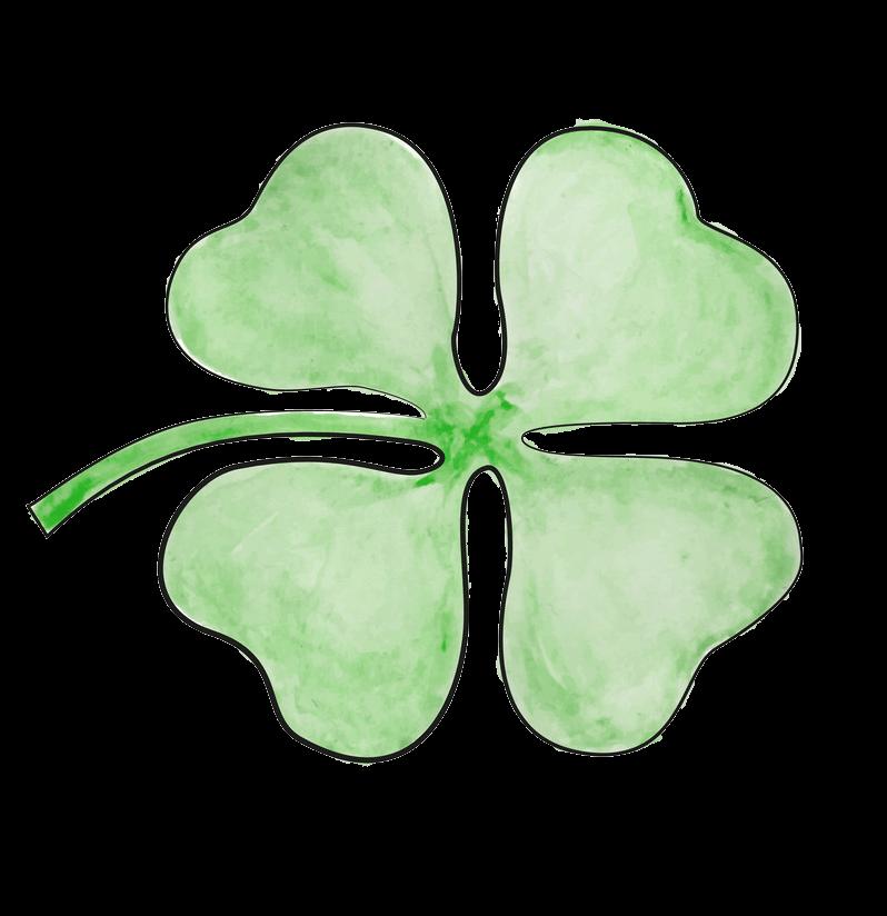 Four Leaf Clover clipart transparent 6