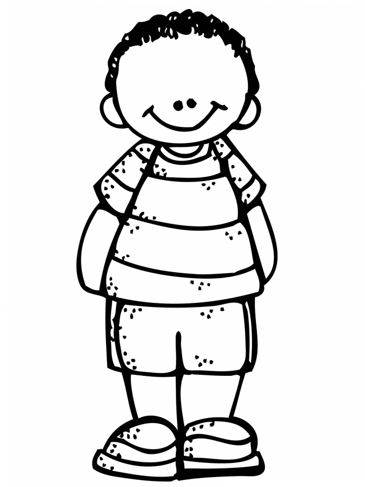 Free Boy Clipart Black and White