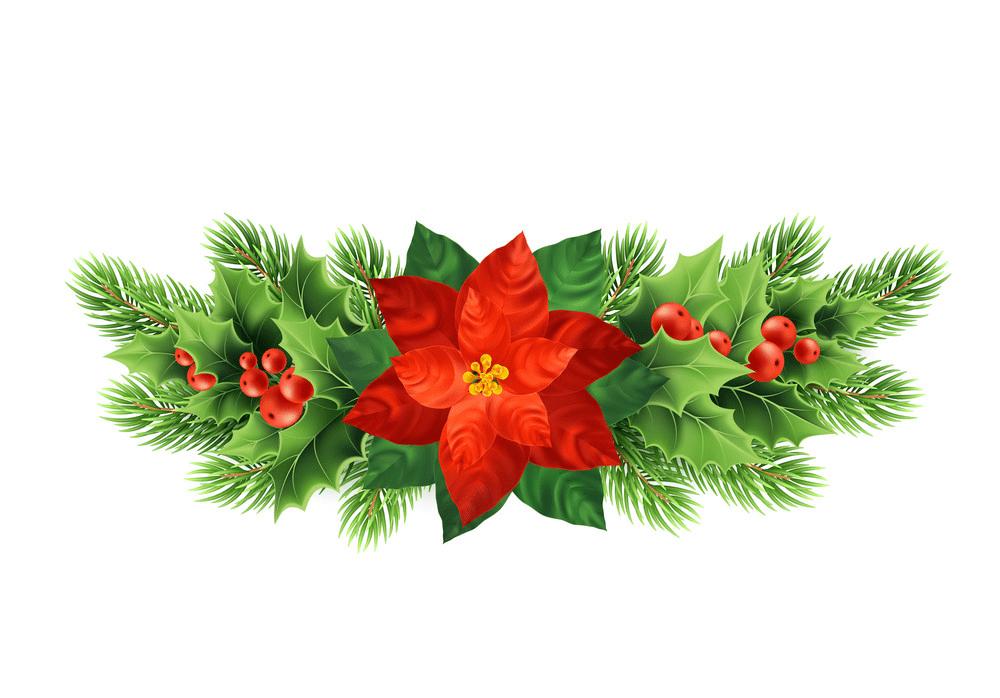 Free Christmas Poinsettia clipart