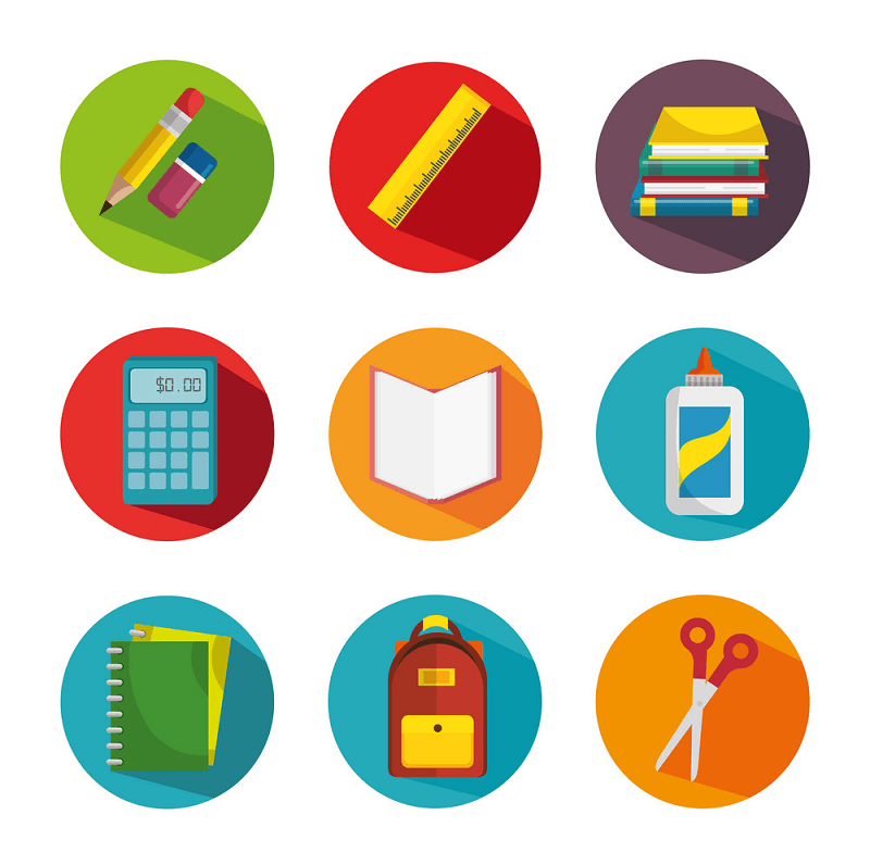 Free Clipart School Supplies Icon