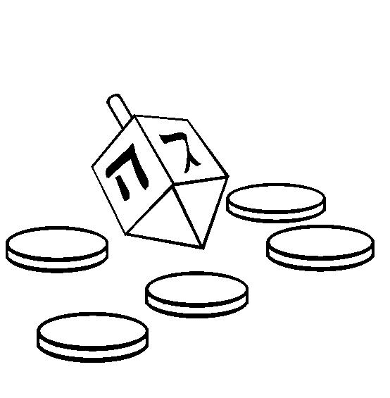 Free Dreidel Clipart Black and White
