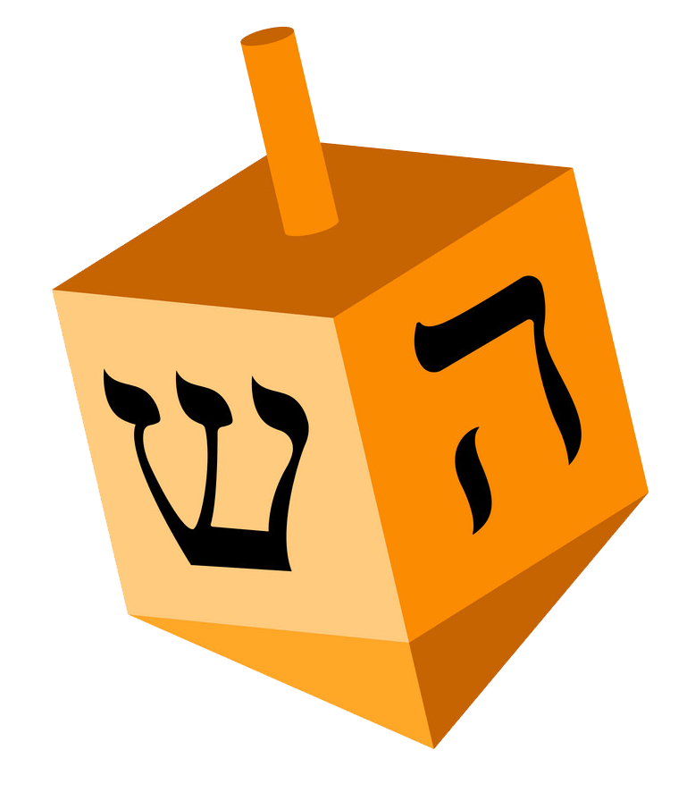 Free Dreidel clipart transparent