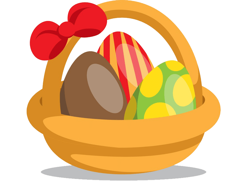 Free Easter Basket clipart transparent