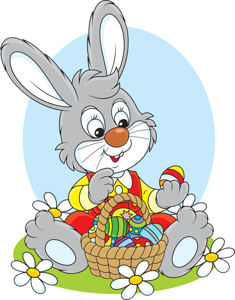 Free Easter Rabbit clipart transparent