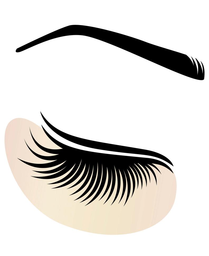 Free Eyelash Extensions clipart