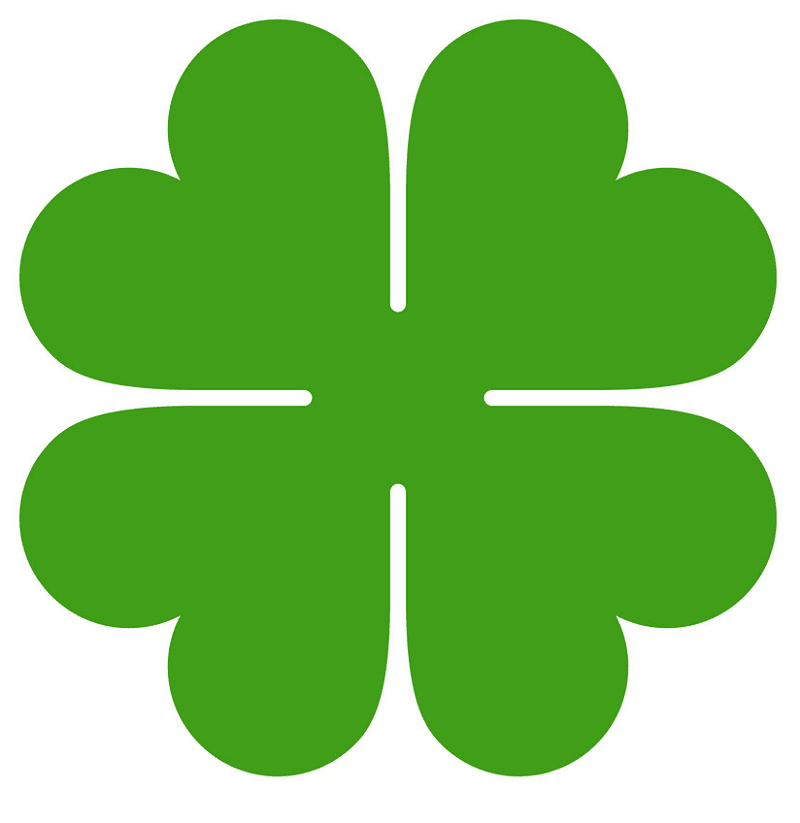 Free Four Leaf Clover clipart png