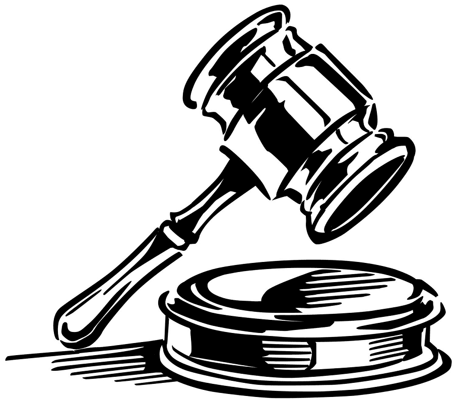 Free Gavel Clipart Black and White