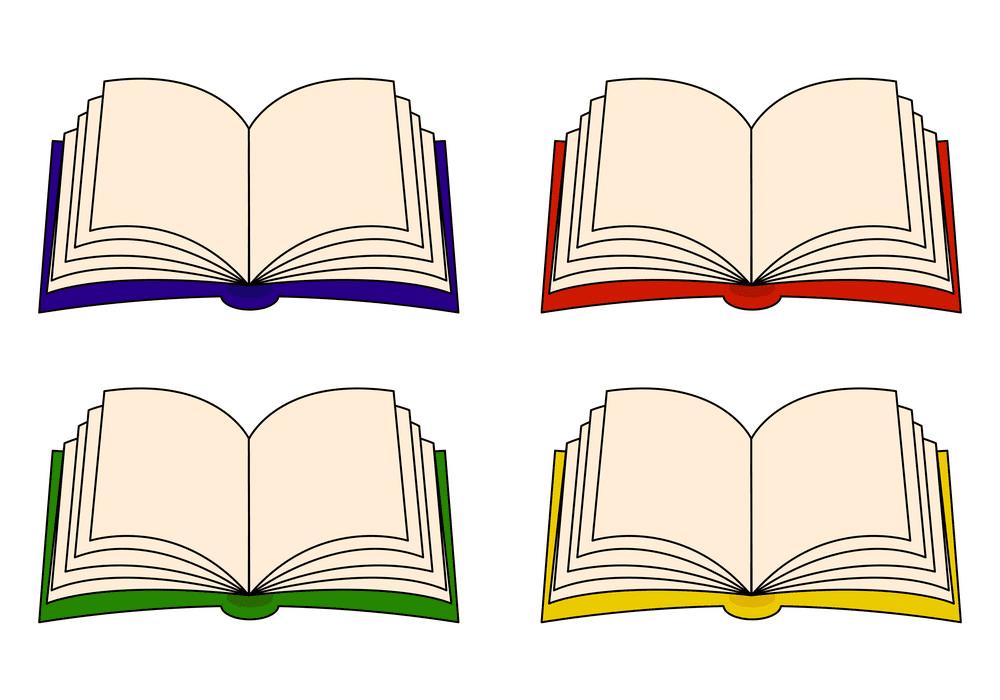 Free Open Books clipart