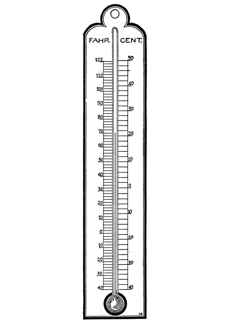 Free Thermometer Clipart Black and White