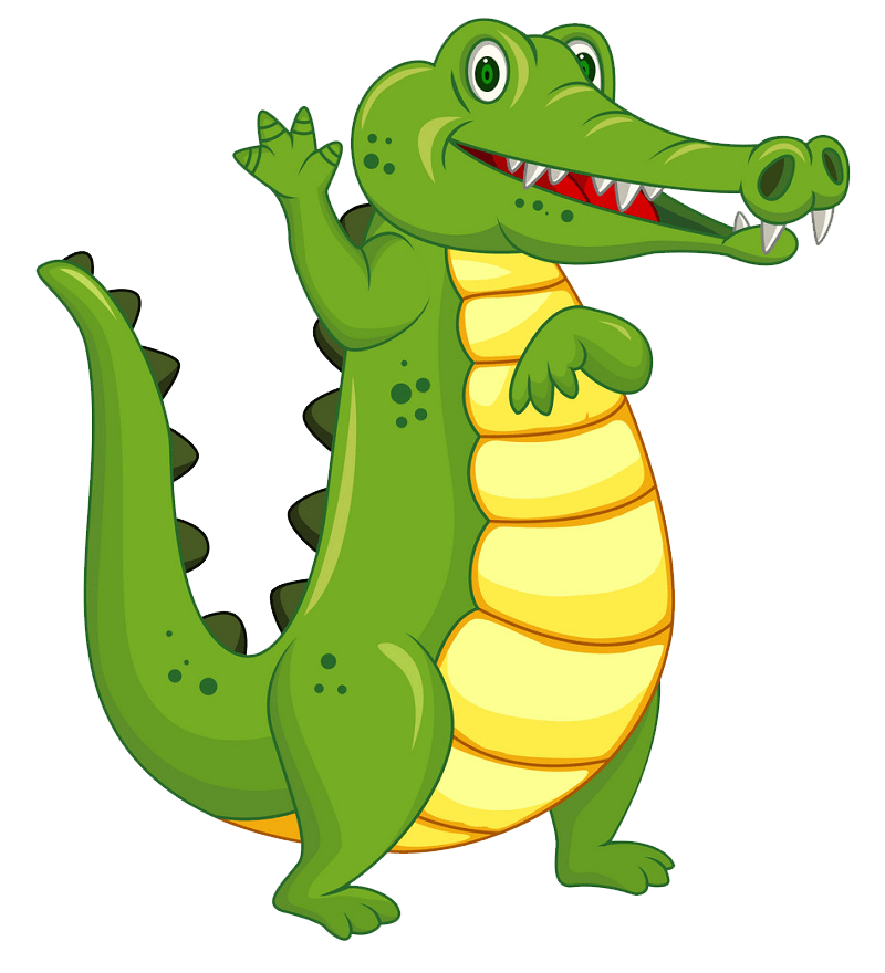 Funny Alligator clipart transparent