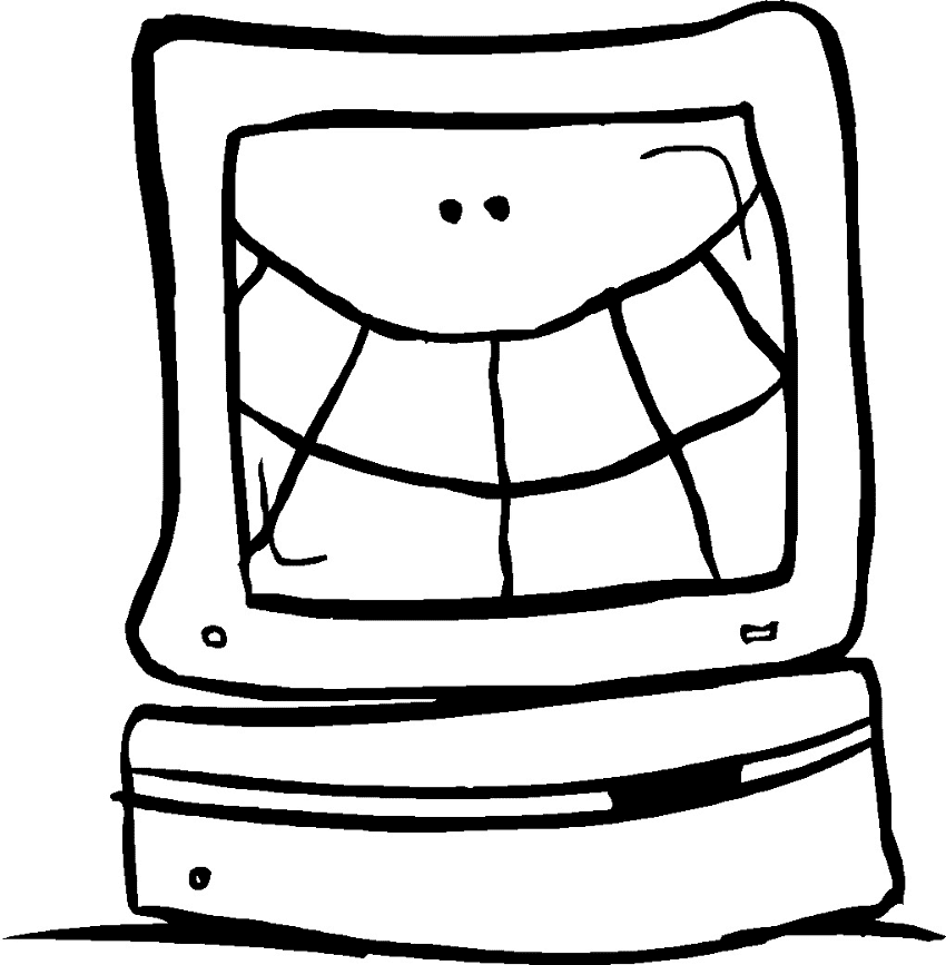 Funny Computer clipart free