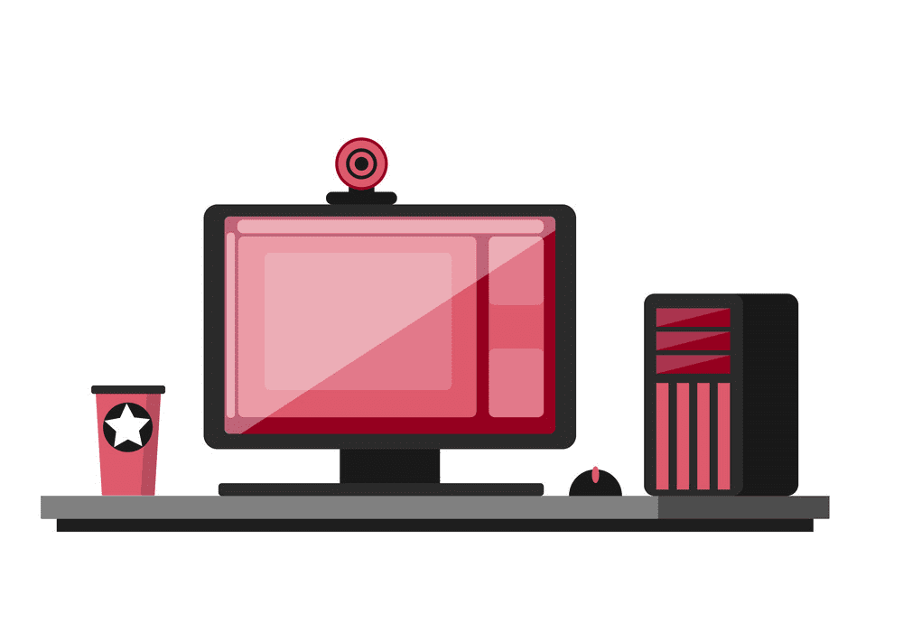 Gaming Computer clipart free
