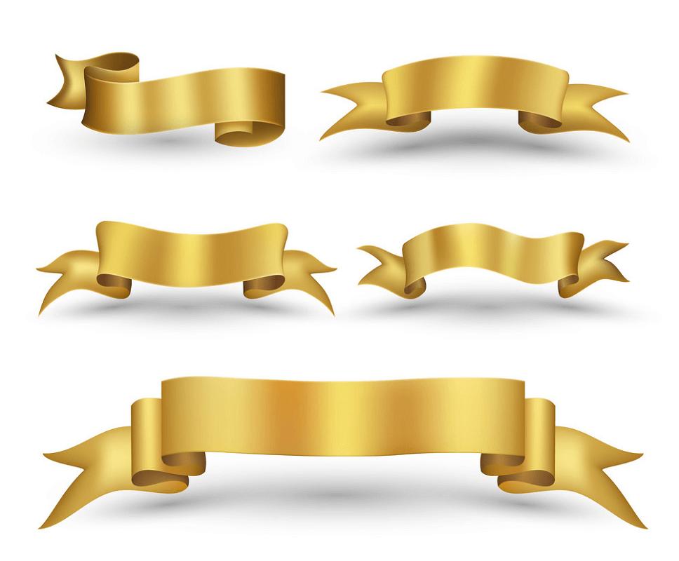 Gold Ribbon Banner clipart