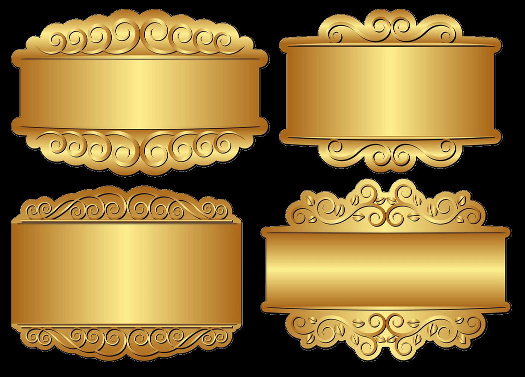 Golden Banner clipart transparent