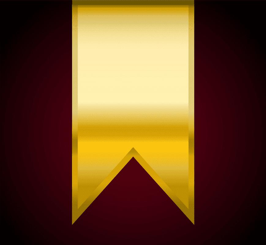 Golden Flag Banner clipart