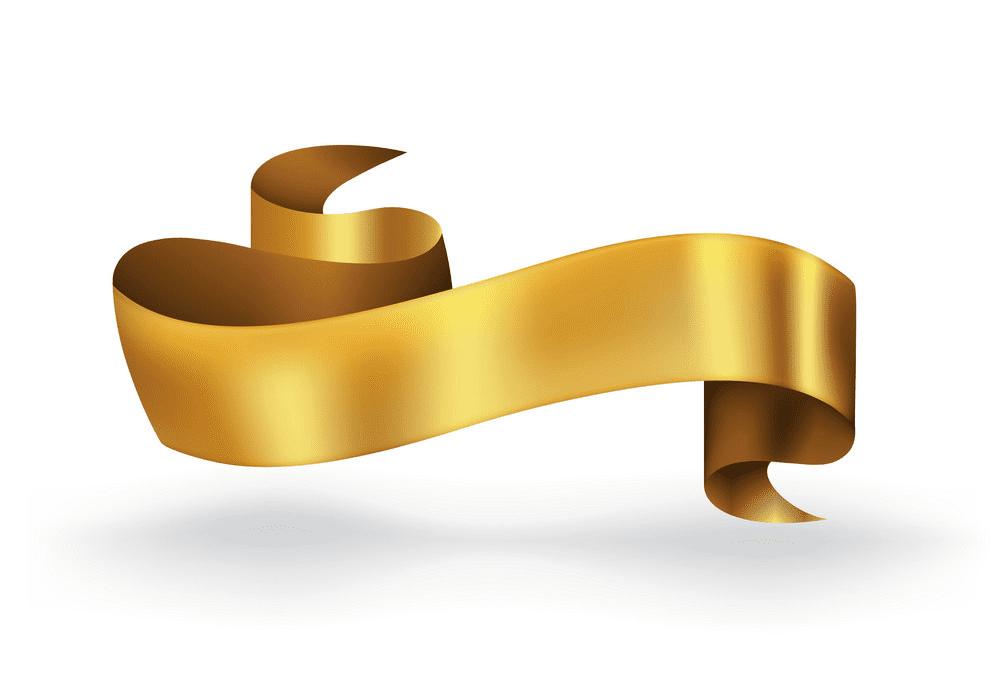 Golden Ribbon Banner clipart free