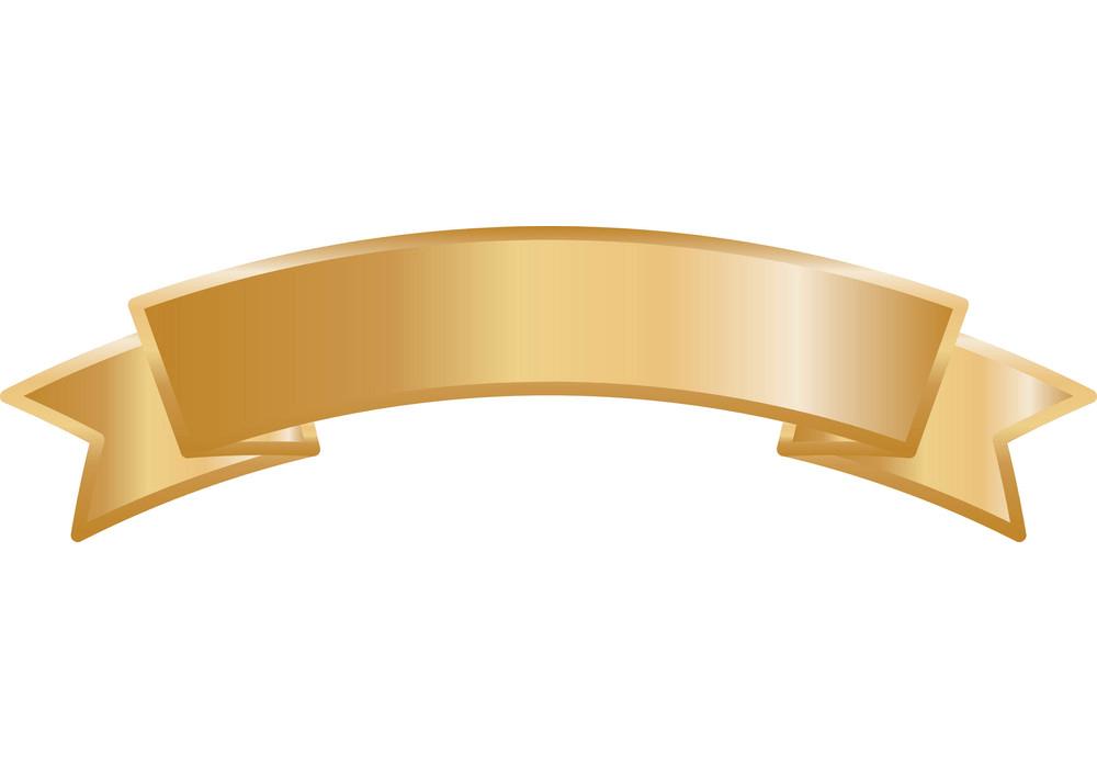 Golden Ribbon Banner clipart